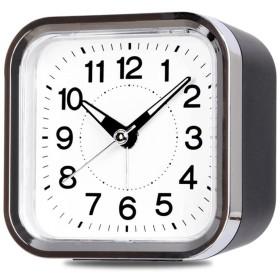 GAOLILI スタイリッシュなナイトライト目覚まし時計ベッドルームミュートクォーツ時計 (色 : 黒)