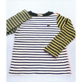 ミキハウスダブルビー MIKIhouse DOUBLE.B 長袖Tシャツ ロンt 130cm 紺/白/赤系 クマ ボーダー 男の子 女の子 トップス キッズ 子供服
