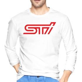 STI Racing KAGAWASHIN Tシャツ メンズ 長袖 綿 無地 軽い 柔らかい シルエット おしゃれ ファッション 人気 快適 薄手 春秋