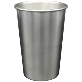 EudoUS 4個 ステンレススチール 積み重ね可能 ビールカップとメタルドリンクグラス ウォータータンブラー BPAフリー 屋内外用