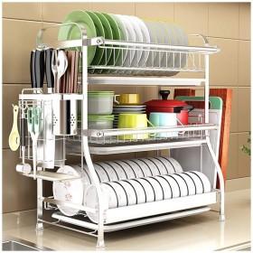 食器皿ラックキッチン水切りラック 料理乾燥ラック/キッチンオーガナイザーカウンタートップ/乾燥ラック/キッチン水切り収納棚/長さ44cm (Size : B)