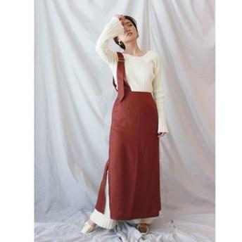 【Ungrid:スカート】ワンショルミドル丈スカート