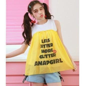 アナップキッズ&ガール(ANAP KIDS&GIRL)/LIPロゴシフォン切替タンクトップ