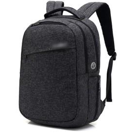 YIYUTING 旅行バックパックバックパック多機能コンピューターバッグスクールバッグ旅行 (色 : 黒, サイズ : 15inch)