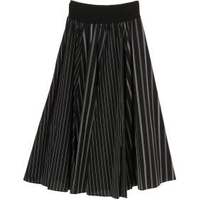 EGLANTINE ストライプ ロングスカート ロング・マキシ丈スカート,ブラック