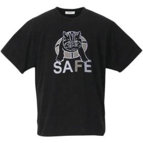 (ラグタイム セレクト) Ragtime Select プリントTシャツ 大きいサイズ メンズ ナノテック 制菌 パイルTシャツ クルーネックTシャツ C010613-13 ブラック 6L