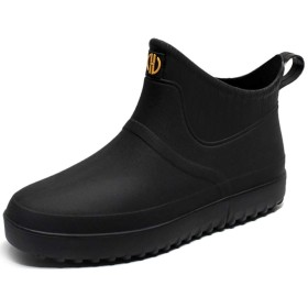 [Taring] メンズ レインシューズ ショート レインブーツ 軽量 ビジネス 雨靴 防水 レイングッズ 洗車 台風 梅雨対策 大きいサイズ