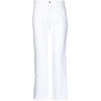 《期間限定セール開催中!》VERSACE メンズ パンツ ホワイト 46 ラミー 90% / ポリウレタン 10%