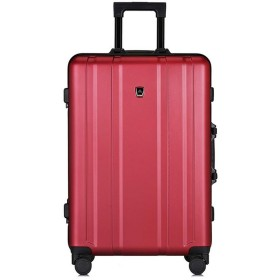 スーツケース プルロッド式キャリーケース Edlux アルミフレーム キャリーバッグダブルキャスター 耐衝撃 キャリーバッグ 軽量 人気色 大型 TSAロック付き 静音 旅行出張 ファスナー式 1年保証
