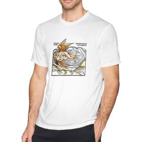 メンズ Tシャツ 半袖 おしゃれ New Skin For The Old Ceremony Leonard Cohen レナード・コーエン プリント スポーツ着 ホワイト S