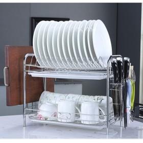 スクリューフリーバックルドレンディッシュラック2色の多機能キッチン収納ラック,Choppingboard1