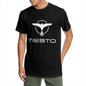 ティエスト Tiesto DJ 男性 Tシャツ 夏 半袖 吸汗 速乾 個性デザイン おしゃれ プリント 丸首 Tシャツ