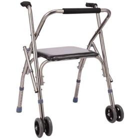 シート付き歩行用ホイール4フィート歩行型障害者用歩行カート折りたたみ椅子