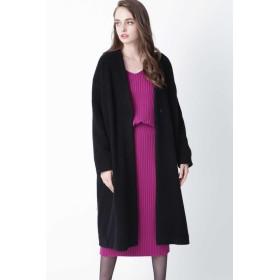 PINKY & DIANNE ◆ウールボアコートライトコート その他 コート,ブラック