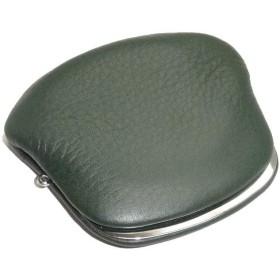 504 牛革がま口小銭入れ 日本製 財布 コインケース (グリーン)
