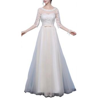 Heaven Days(ヘブンデイズ) ブライダルドレス ウェディングドレス カラードレス Aライン レース 結婚式 二次会 パーティー 1802C0154