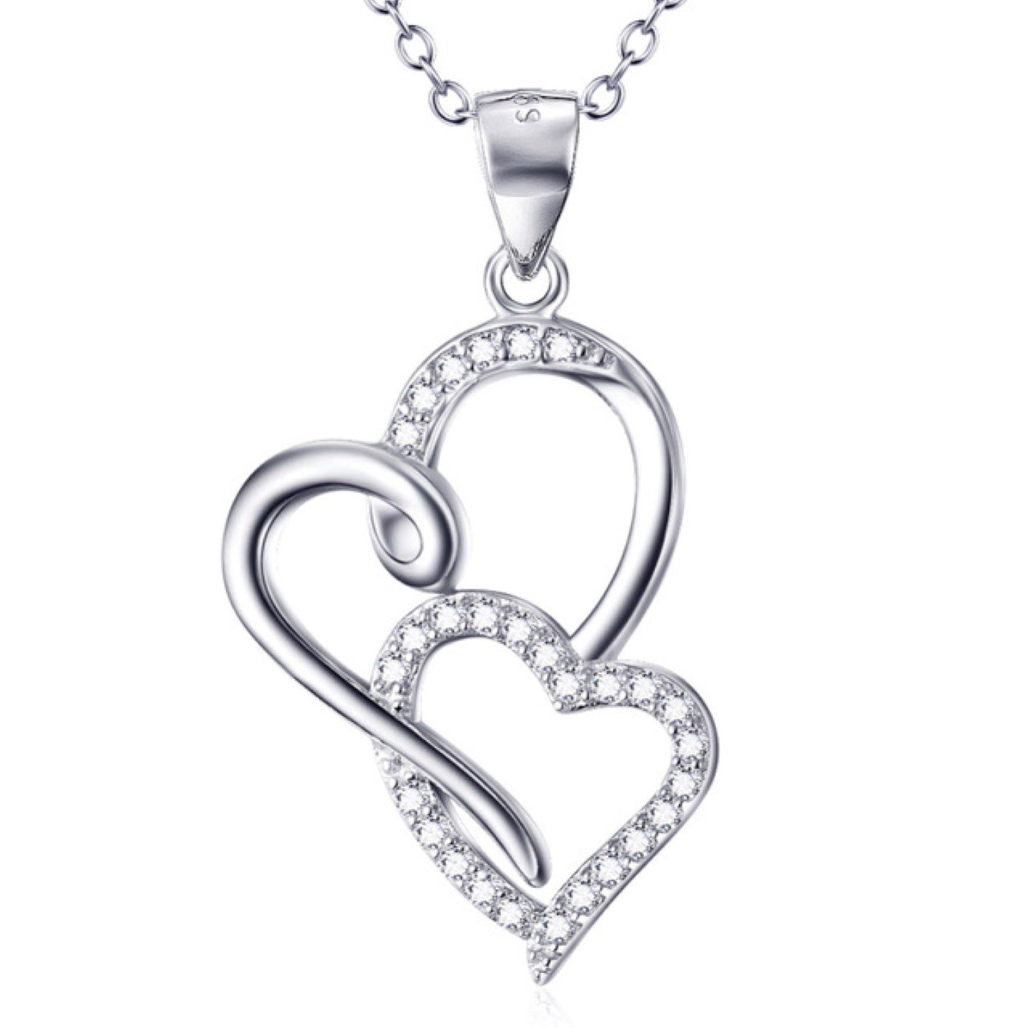 CS-DB Womens Necklaces by Silver Pendant Fashion Luxury Girls Mother and Child Jewelry
