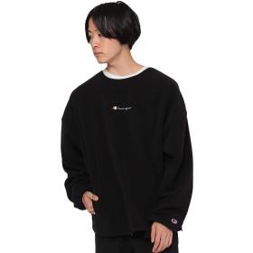 (ビームス)BEAMS/スウェット Champion × BEAMS 別注 POLARTEC フリース クルーネック スウェットシャツ メンズ BLACK L