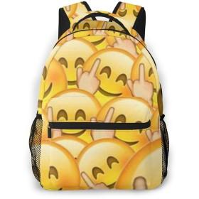 バックパック おもしろ 絵文字 PCリュック ビジネスリュック バッグ 防水バックパック 多機能 通学 出張 旅行用デイパック