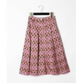 【GRACE CONTINENTAL:スカート】モノグラムジャガードスカート