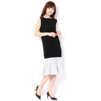 【アンドクチュール/And Couture】 裾ラメマーメード切り替えワンピース