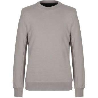 《セール開催中》BEN TAVERNITI UNRAVEL PROJECT メンズ スウェットシャツ ライトグレー S コットン 100% / ポリウレタン / レーヨン / ポリウレタン