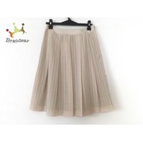 ギャラリービスコンティ GALLERYVISCONTI スカート サイズ2 M レディース ベージュ ラメ   スペシャル特価 20191224