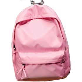 MissとMr リュックサック リュック デイパック かばん バッグ キャンバス防水 シンプル 軽量 男女兼用 マザーズバッグ 中学生 高校生 大学生 メンズ レディース (ピンク)