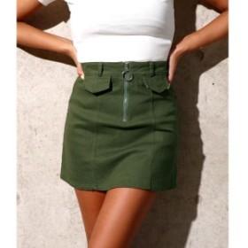 アナップ(ANAP)/リングZIPツイル台形スカート
