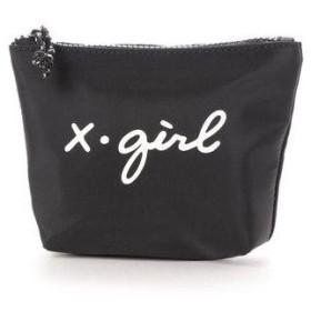 エックスガール X-girl CURSIVE LOGO POUCH (BLACK)