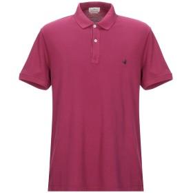 《セール開催中》BROOKSFIELD メンズ ポロシャツ ガーネット 56 コットン 100%