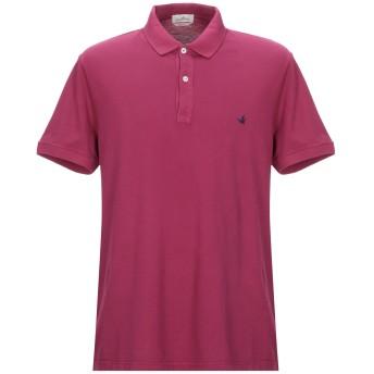 《期間限定セール開催中!》BROOKSFIELD メンズ ポロシャツ ガーネット 56 コットン 100%