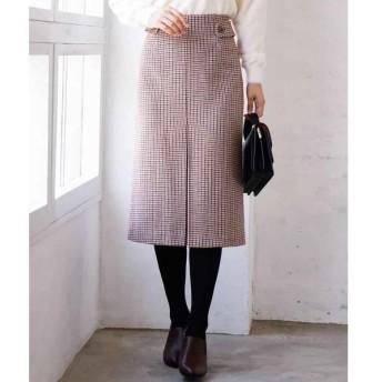 MK MICHEL KLEIN / エムケーミッシェルクラン 【洗濯機で洗える】ガンクラブチェック柄ナロータイトスカート