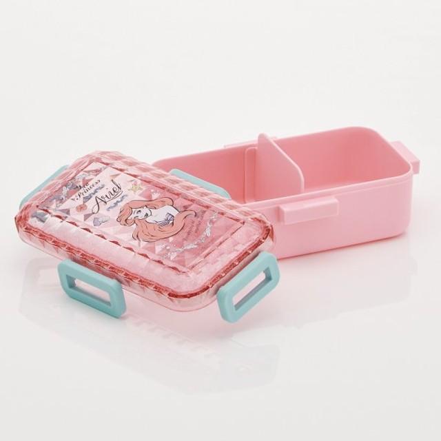 お弁当箱 お弁当用袋 ディズニー クリスタル1段ランチボックス カラー 「アリエル」