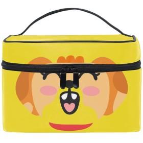 収納バッグ 化粧ポーチ トラベルポーチ 小物入れ 大きめ 女の子 可愛い プレゼントかわいい笑顔の犬