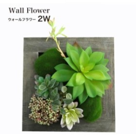 フェイクグリーン 多肉植物 造花 フレーム 壁 インテリア(ウォールフラワーシリーズ 2W)