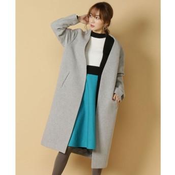 【アンドクチュール/And Couture】 ウールモッサノーカラーーコート