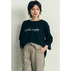LIPSTAR スムースロゴTシャツ Tシャツ・カットソー,ブラック