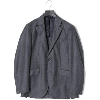 【50%OFF】グレンチェック ノッチドラペル テーラードジャケット グレー/ブラック 38