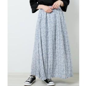 【フレームス レイカズン/frames RAY CASSIN】 クリンクルプリーツ花柄スカート