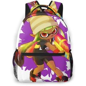 リュックサック リュック スプラトゥーン Splatoon バッグ 鞄 バックパック 背負う 双肩バッグ スクエアリュック