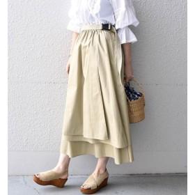 【シップス/SHIPS】 Khaju:ギャザーラップスカート