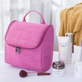 洗面バッグ、袋-飯粒海外旅行化粧バッグ多機能ホテルの浴室掛式洗面カバンの大容量の水かけ防止バッグです。, 一枚の赤色