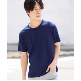 MK MICHEL KLEIN homme カットソー(ハニカムストレッチ) Tシャツ・カットソー,ブルー