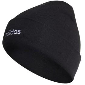 アディダス メンズ ニット帽 リニアロゴウーリー (GDJ17 ED0253) : ブラック adidas