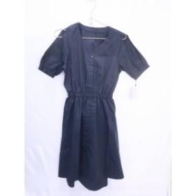 MiCOAMERi(ミコアメリ)オープンショルダーフレアミディワンピース 半袖 紺 レディース 新品 F