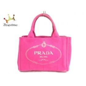 プラダ PRADA ハンドバッグ CANAPA 1BG439 ピンク キャンバス    値下げ 20191017