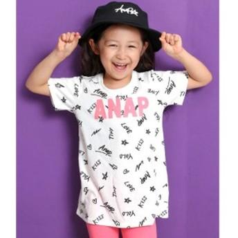 アナップキッズ&ガール(ANAP KIDS&GIRL)/総柄ロゴプリントチュニック