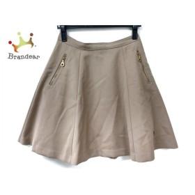 ブルーレーベルクレストブリッジ スカート サイズ38 M レディース 美品 ベージュ 新着 20190913