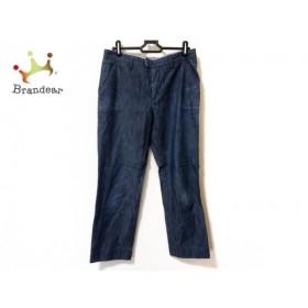 アニエスベー agnes b パンツ サイズ38 M レディース 美品 ネイビー 新着 20190913